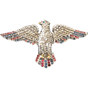 Red, White and Blue Patriotic Eagle Pin