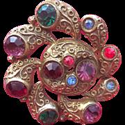Czech 1930's Swirl Pin