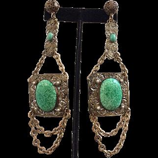 Exquisite 1930's Czech Drop Earrings