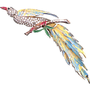 Reja Enameled Bird Pin