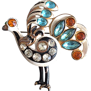Bejeweled Bird Brooch