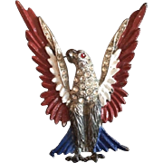 Patriotic Red, White and Blue Eagle Pin