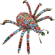 KJL Large Jeweled Spider Pin