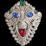 Rare Staret Lion Mask Pin