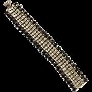1950's Black & Clear Bracelet