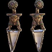 Egyptian Revival Pharaoh Earrings