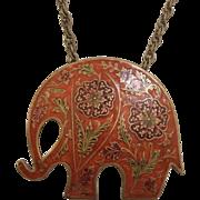 Cloisonné Elephant Necklace