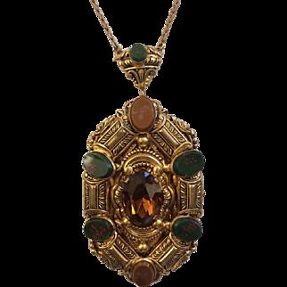 Long Czech Pendant Necklace