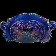 Northwood Blue Bonbon Dish ca 1910