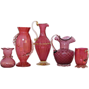 Vintage Cranberry Rigaree Collection