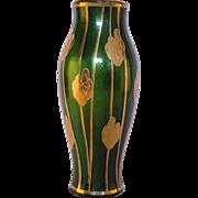 Vintage von Poschinger Chromium Aventurine Vase