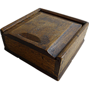Dovetailed Spice Box with Sliding Lid, English, 18th Century