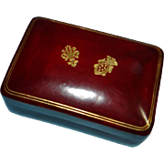 Fine Italian Tooled-Leather Gilt Small Box