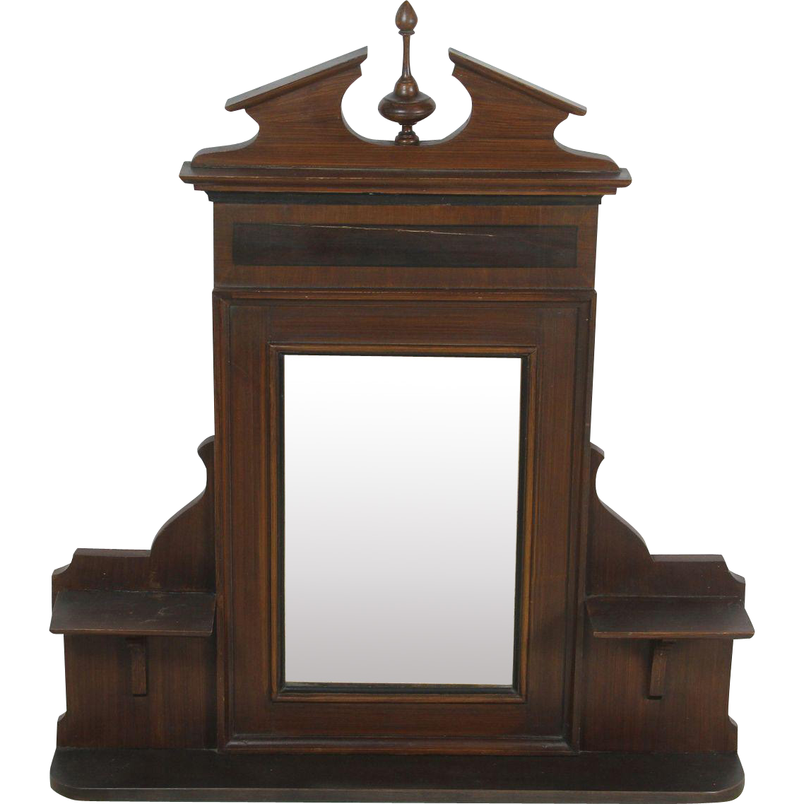 Dutch dressing mirror hallway mirror with shelves from for Hallway mirror and shelf