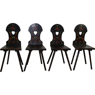 Hungarian Painted Chairs