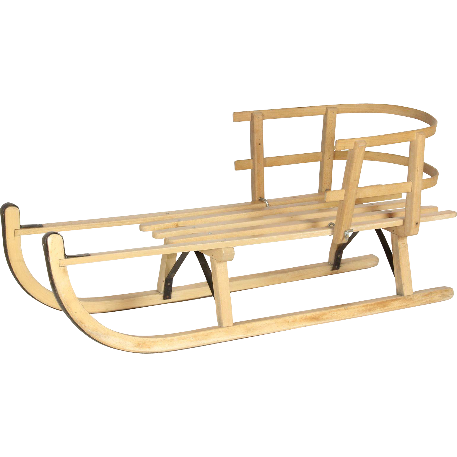 Vintage dutch wooden sled from skicountryantiques on ruby lane for Vintage sleds