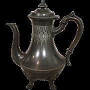 Atkinson Bros. Claw Foot Pewter Tea Pot
