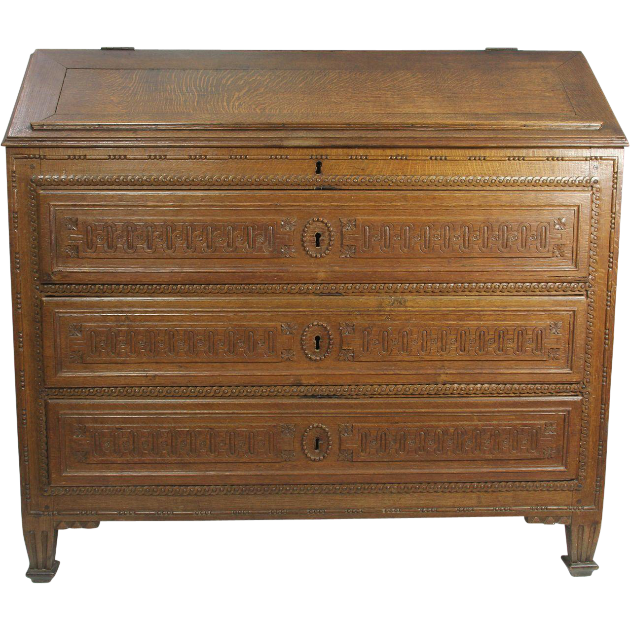 Upright Oak Writing Desk From Skicountryantiques On Ruby Lane. Full resolution  snapshot, nominally Width 1277 Height 1277 pixels, snapshot with #6E482B.