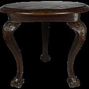 Carved Oak Side Table