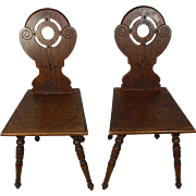 Oak Hall Chairs Set/2
