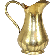 Hand Hammered Brass Pitcher