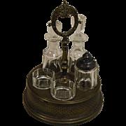 European Glass Cruet - Oil, Vinegar, & Condiments Set