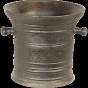 Large Iron Mortar (117 Lbs.)