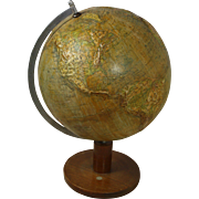 German Globe Topographical with Elevation
