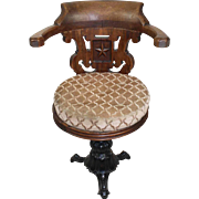 Wood and Iron Captain's Chair