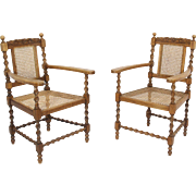 Wicker Arm Chairs Set of Two