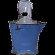 Blue Enamel Bucket