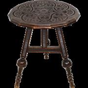 Dutch Carved Tilt-Top Table