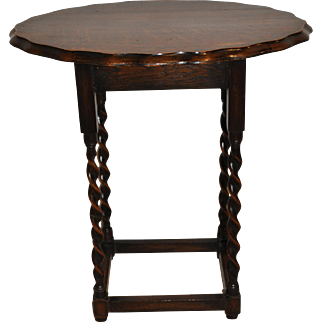 Oval English Side Table