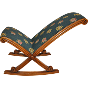 Needlepoint Gout Rocking Footstool