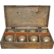 Petanque in Crate Set of Eight