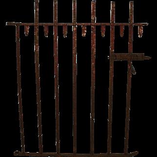 Red Picket Iron Garden Gate
