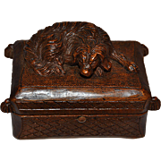 Carved Box with Sleeping Dog