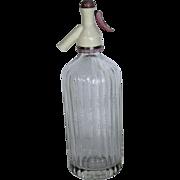 Marsh's Soft Drinks Seltzer Bottle