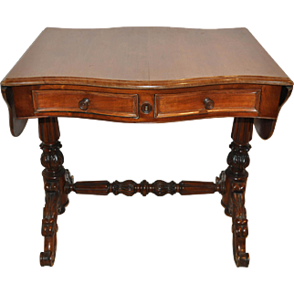 Mahogany Pembroke Table with Drop Leaf Sides
