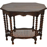 Table with Barley Twist Legs and Lower Cane Tier