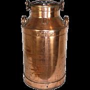 Lacsoons Copper Milk Can from Rotselaar, Belgium