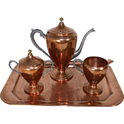 Copper Tea/Coffee Set