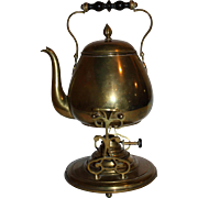 Brass Coffee Pot on Stand
