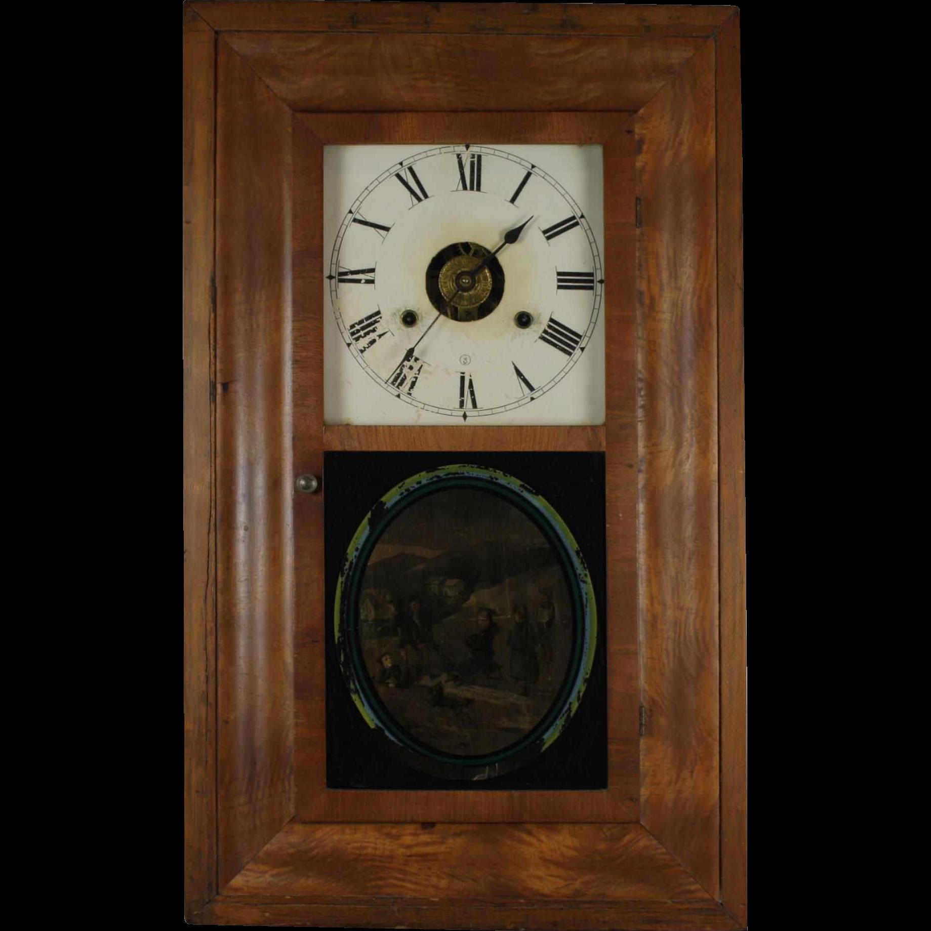 seth thomas wall clock from skicountryantiques on ruby lane