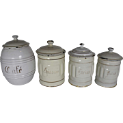 French Enamel Canister Set