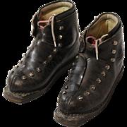 Swiss Molitor Leather Ski Boots, Women's Size 8