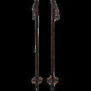 Wooden Ski Poles