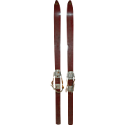 Sport Skis with Massag Bindings