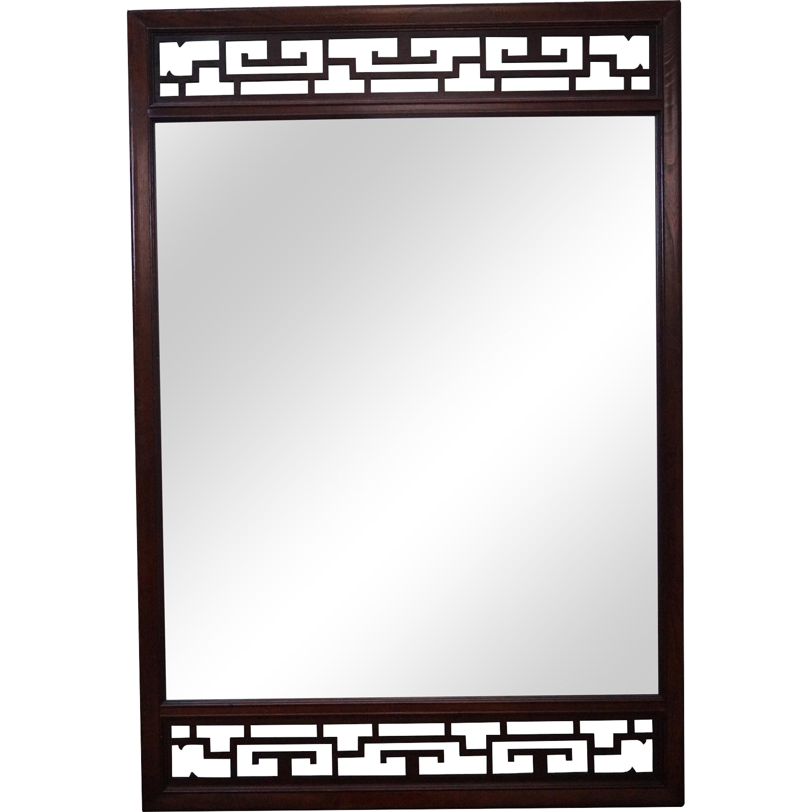 Baker asian style mahogany fretwork hanging wall mirror from bucks baker asian style mahogany fretwork hanging wall mirror amipublicfo Choice Image
