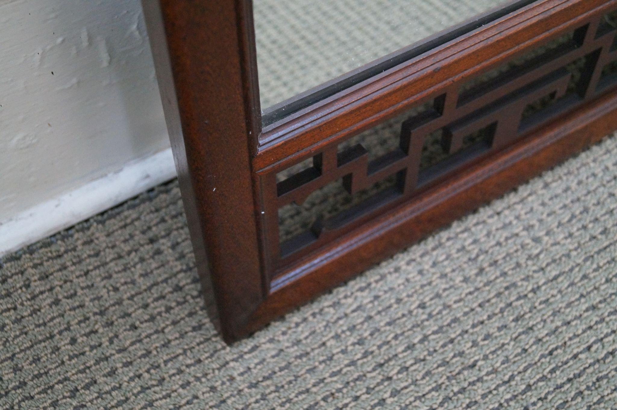 Baker asian style mahogany fretwork hanging wall mirror from bucks roll over large image to magnify click large image to zoom amipublicfo Images